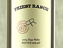 2009 Priest Ranch Petite Sirah