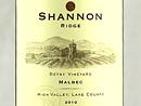 2010 Shannon Ridge Malbec