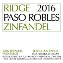 2016 Ridge Paso Robles Zinfandel