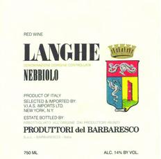 2017 Produttori Langhe Nebbiolo