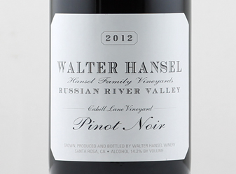 2012 Walter Hansel Pinot Cahill Lane