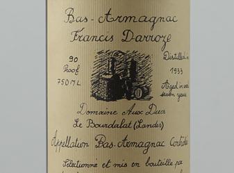 1933 Francis Darroze Bas-Armagnac