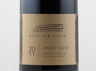 2011 Girl. Dog. Truck. Pinot Noir