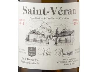 2012 Auvigue St. Veran Moulin ½ Case