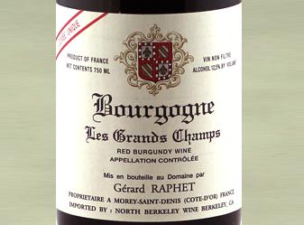 2011 Gerard Raphet Bourgogne Rouge