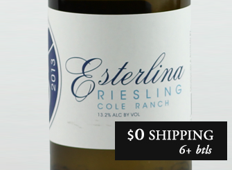 2013 Esterlina Estate Riesling
