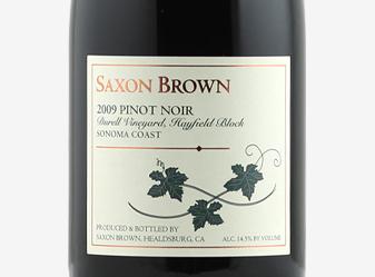 2009 Saxon Brown Pinot Noir
