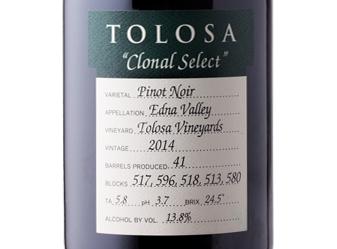2014 Tolosa Clonal Select Pinot Noir