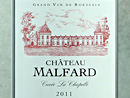 2011 Château Malfard Cuvée La Chapelle
