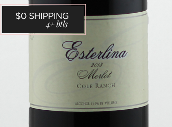 2013 Esterlina Merlot Cole Ranch