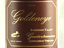 2012 Goldeneye Estate Gewurztraminer