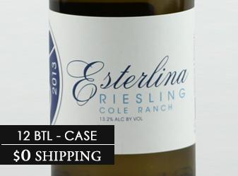 2013 Esterlina Estate Riesling Case