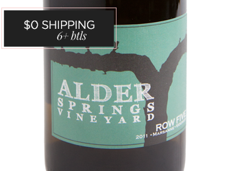 2011 Alder Springs Row Five White