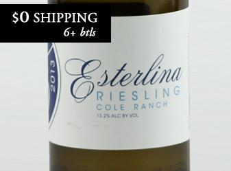 2013 Esterlina Estate Riesling