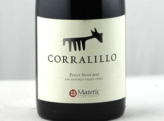 2012 Matetic Corralillo Pinot Noir