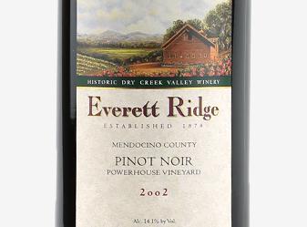 2002 Everett Ridge Pinot Noir