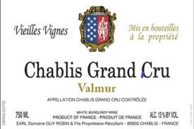2012 Guy Robin Valmur Grand Cru
