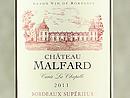 2011 Château de Malfard La Chapelle