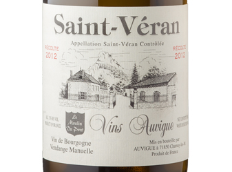 2012 Auvigue St. Veran Moulin Blanc
