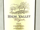 2012 High Valley Zinfandel
