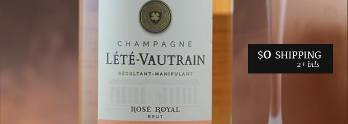 NV Lété Vautrain Rosé Royal Brut