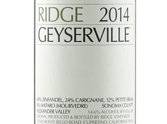 2014 Ridge Geyserville Zin Blend