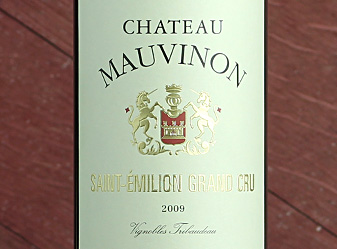 Event - 2009 Château Mauvinon Grand CruSaint-Émilion *Direct Import 94pts Rated | 2x Sellout Returns