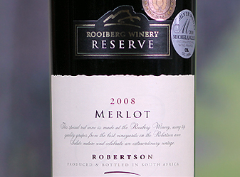 Event - 2008 Rooiberg Reserve Flagship MerlotRobertson, South Africa *World-Class Beauty